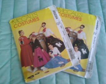 McCalls Costumes M6234 6234 Diy Poodle Skirt Misses