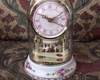 Ceramic Carousel Clock In Original Box