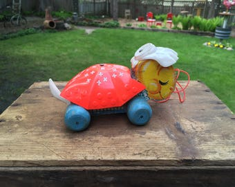 Vintage Fisher Price Turtle Pull Toy