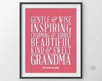 Gift for Grandmother Gift for Grandma Gift from Grandkids Grandparents Birthday Gift for Grandmothers Birthday from Grandchildren Gift