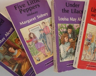 Margaret Sidney and Louisa May Alcott 4 book collection