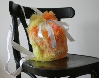 Colorful fluffy bag
