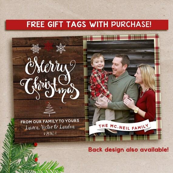 Photo Christmas Card, Rustic Christmas Card, Holiday Card, Christmas Photo Card, Merry Christmas, Xmas