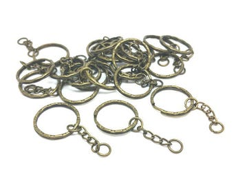 30 key chain Bronze 5.3 cm rings