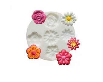 Mini Mold Silicone flowers
