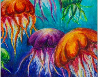 Jellyfish Print Art