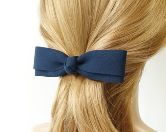 Long and Thin Hair Bow French Barrettes Women Hair Accessories