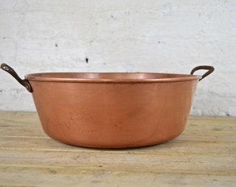Copper French preserving/jam pan