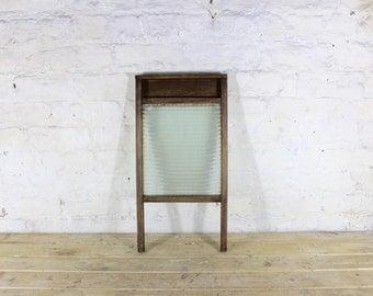 Wood and glass wash board