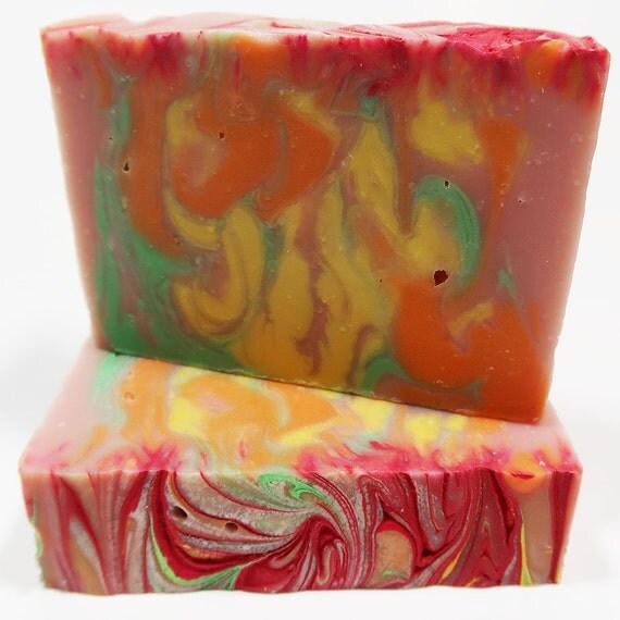 Fruit Stripes Cold Process Soap
