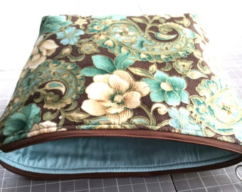 matching accessory zippered make up pouch. .paisley pouch..cosmetic bag