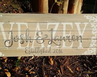 Wedding Sign Set Wedding Decor Personalized Wedding Sign Decor Rustic Wedding Sign Set