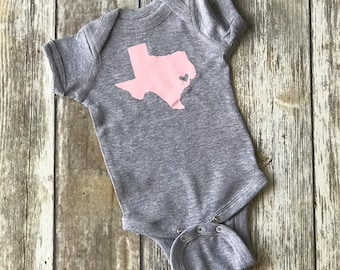 Texas with a heart over your favorite city!