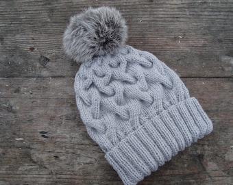 Women's winter fur hat