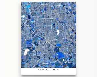 Dallas Map Print, Dallas Art, Dallas Texas City Map Art