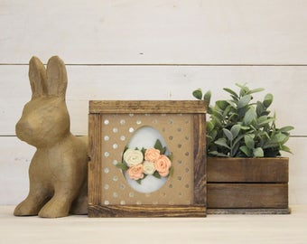 Flower Egg | DIY Pocket Frame Insert Kit | SIZE A | Frame Not Included