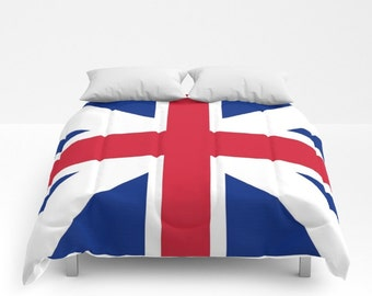 Union Jack Comforter Union Jack Duvet United Kingdom Flag Comforter UK Flag Duvet UK Comforter Great Britain Comforter Great Britain Duvet