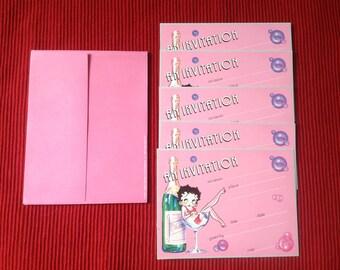 Vintage Betty Boop invitation set