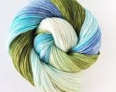 Double Mint , handpainted indie yarn
