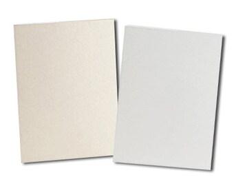 "20 Pack Full Sheet Card Stock  - 8 1/2"" x 11"" Sheets - White or Cream - 100 lb. Cover Stock"