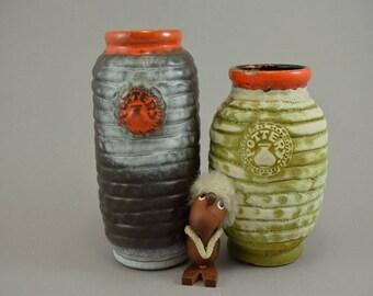 Vintage set of 2 vases / Bay / 88 17 and 88 20 | West Germany | WGP | 60s