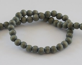 Gray Beads, 8mm, Round Wood Beads, Lightweight Beads, Fast Shipping from USA
