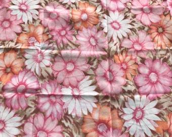 Vintage pillowcases cottage chic pillowcases shabby chic pillowcases peach white pink orange brown pillowcase