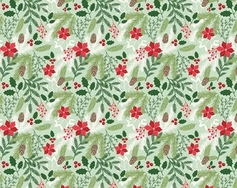 1 Yard Comfort and Joy by Design by Dani for Riley Blake Designs- 6260 Main Lite Green