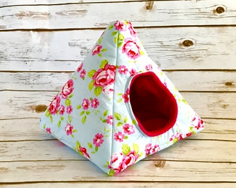 Hedgehog Bed | Guinea Pig Bed | Small Animal Bed | Hedgehog House | Guinea Pig House | Rat Bed | Tent | Teepee | Rose Design