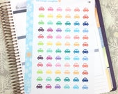 Cars Die-cut Stickers! 1 punched sheet, for your Erin Condren Life Planner, Plum Planner,  Filoflax, calendar
