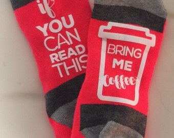 COFFEE socks! Perfect gift for the coffee lover in your life!
