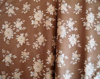 Fabric coupon TILDA Autota brown, 50*36,50 cm,printed cotton