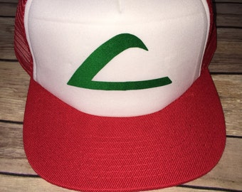 Ash Ketchum Pokemon Trainer Hat Cap Costume Accessory (READY TO SHIP)