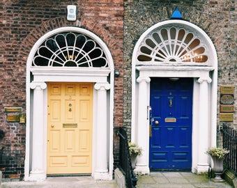 Dublin Doors, Ireland, travel photography- fine art color photography print; 5x5, 8x10, 11x14 inches