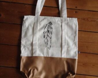 shopper bag feather