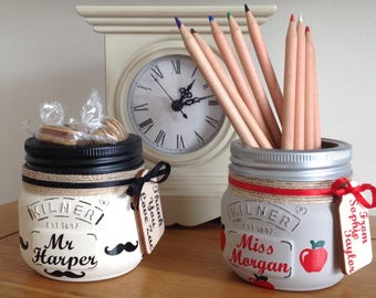 Personalised Teacher Treat Jars