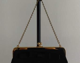 Vintage Black Handbag with Bow.