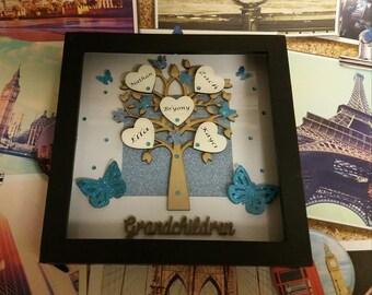 Personalised Grandchildren Family Tree Frame