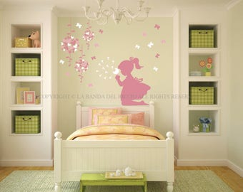 Wall decals kids Wall stickers Baby Nursery Room Decor Butterflies and Shower Heads