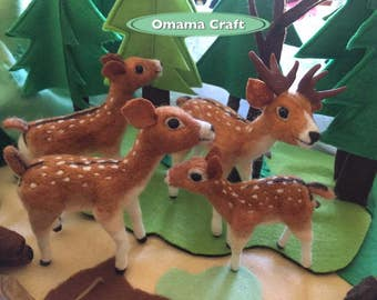 Needle Felt Animal Sculpture - Deer