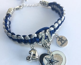 Dallas Cowboys Braided Bracelet