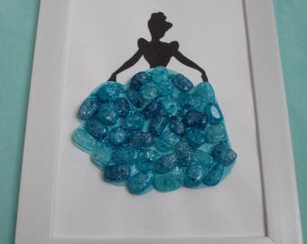 Disney Princess Cinderella Beaded Silhouette Wall Art