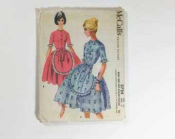 Vintage Sewing Pattern 1960s Dress With Petticoat McCalls 5724 Mid Century Uncut