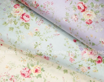 Lecien Rococo Sweet 2016 Medium Roses Japanese Cotton Fabric Bundle - 3 Pcs - Choose Fat Quarter or 1/2 Yard Bundle