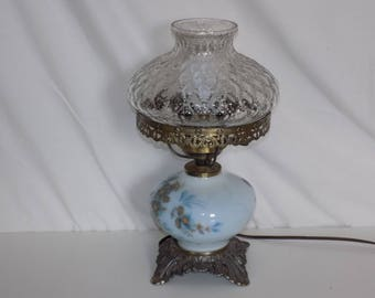 Retro Hurricane Style Milk Glass Table Parlor Lamp Accurate Castings Co