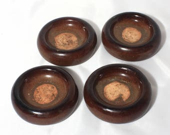 Vintage Brown Ceramic Furniture Sliders
