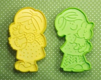 Collectable 1970's Boy And Girl  Hallmark Easter Cookie Cutters