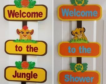 Lion King Door Sign, Lion Guard Door Sign, SImba, Kion, Jungle