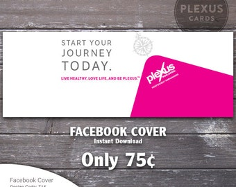 Plexus Facebook Cover Image Journey Design - Instant Download