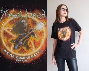 1980s Motorhead 1986 tour Metalhead Women T Shirt / Rocker Trash Heavy Metal Hard Rock TShirt Attribute Tee Concert Memorabilia Collectible